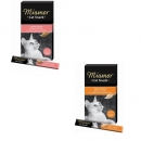 Miamor Cat Snack Käse-Cream 5x15g und Cat Snack Lachs-Cream 6x15g